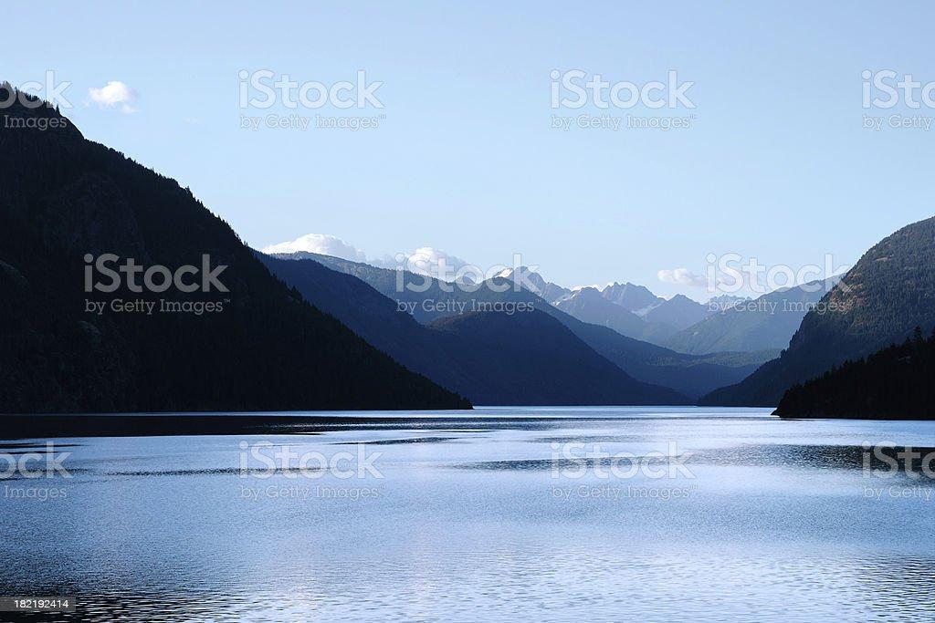 wilderness mountain XXL lake royalty-free stock photo