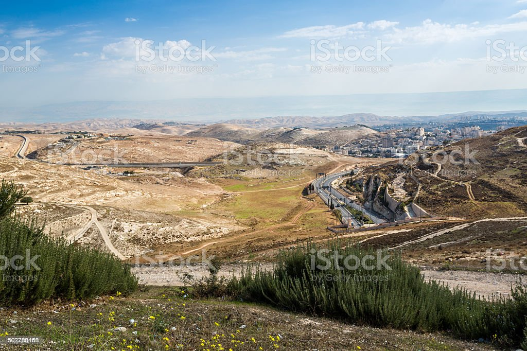 Wilderness of Judah, Israel stock photo