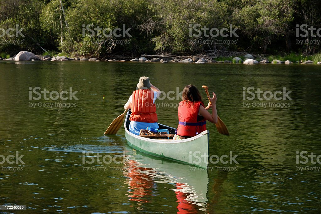 Wilderness Paddle, Yellowknife royalty-free stock photo