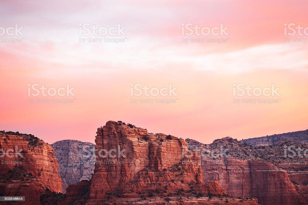 Wilderness Red Rock Canyon Sunrise Landscape stock photo