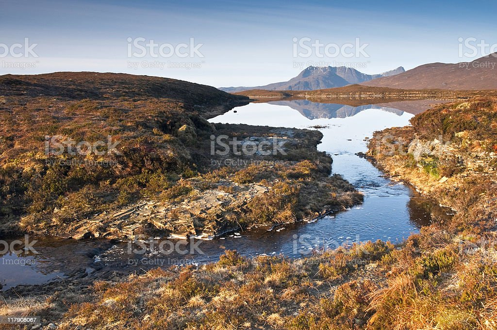 Wilderness reflections, Scottish highlands royalty-free stock photo