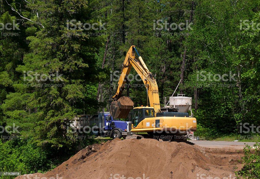 Wilderness Road Construction stock photo
