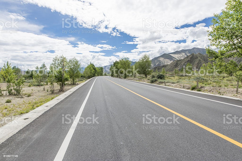 Wilderness road stock photo