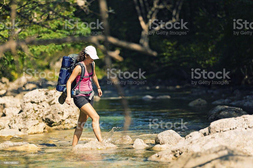 wilderness trekking royalty-free stock photo