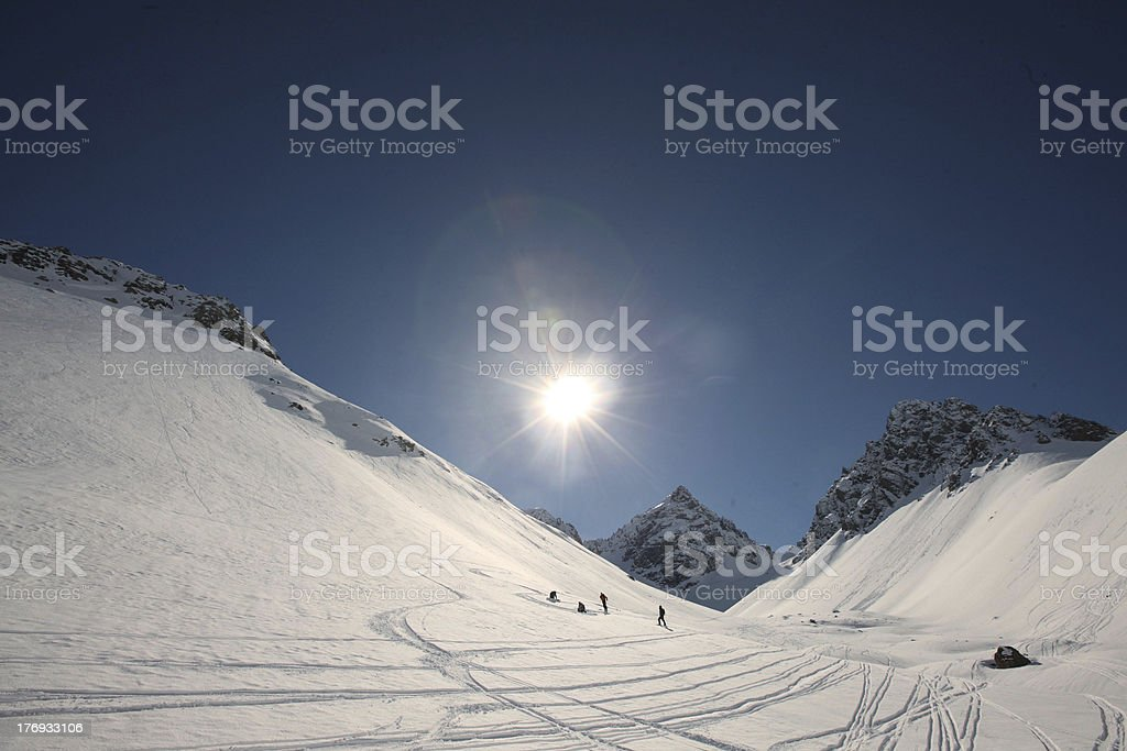 Wilderness Valley Tracks royalty-free stock photo