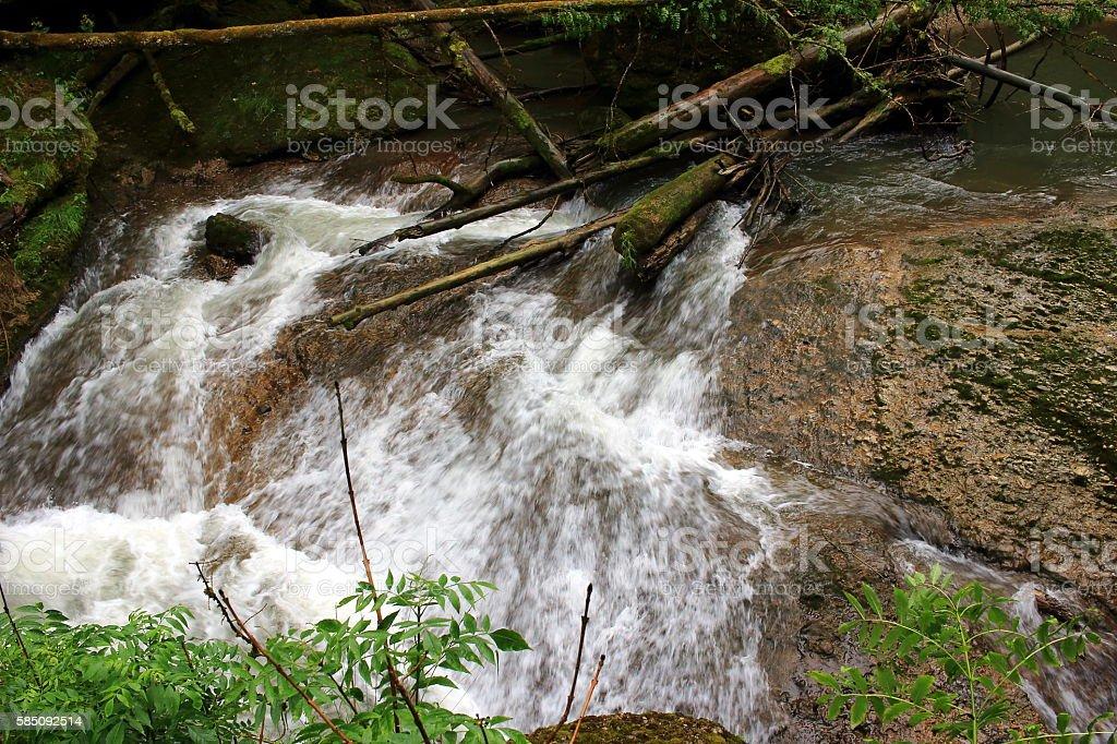 wildes Wasser stock photo