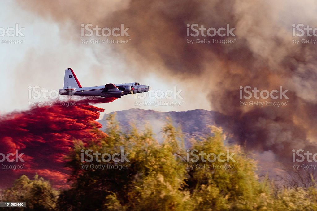 Wildfire Air Tanker stock photo