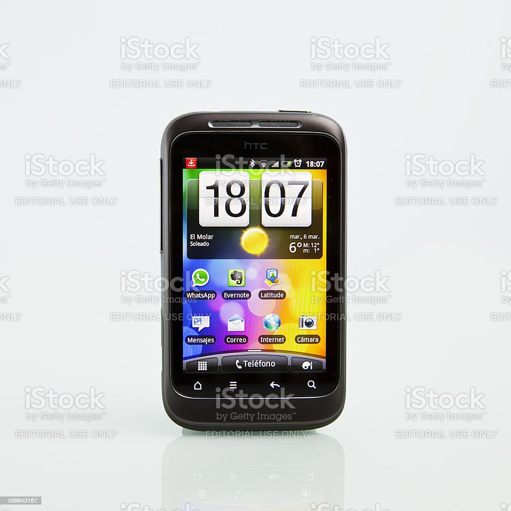 HTC Wildfire S royalty-free stock photo