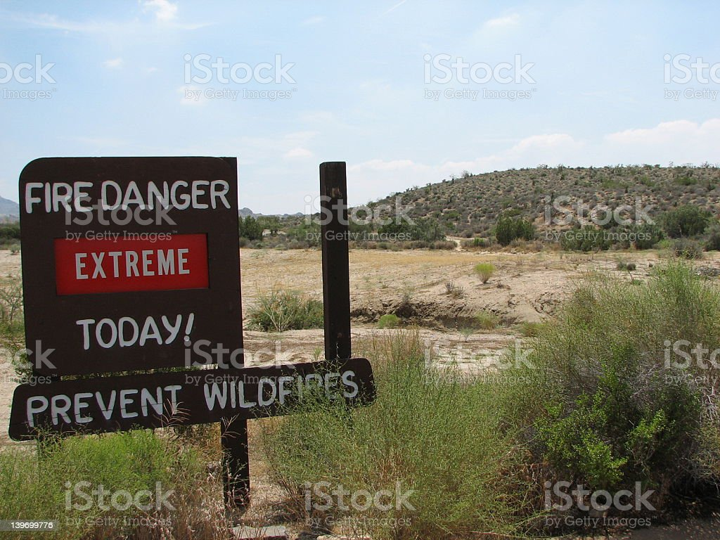 Wildfire warning stock photo