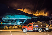 Wildfires burn at Grand Coulee Dam, Washington