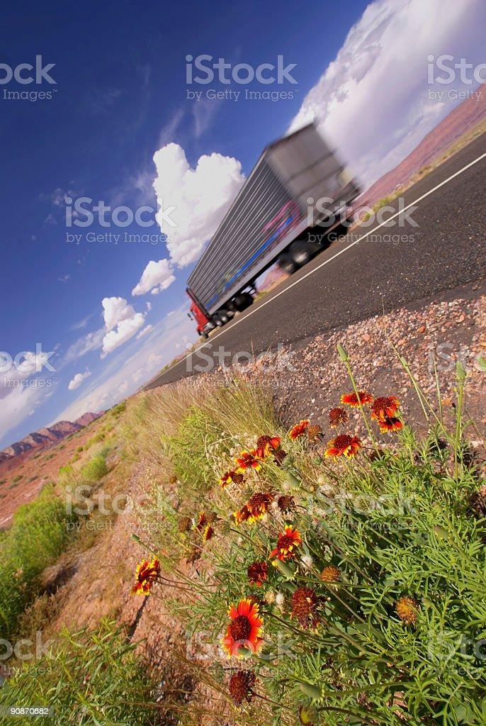 wildflower landscape truck royalty-free stock photo