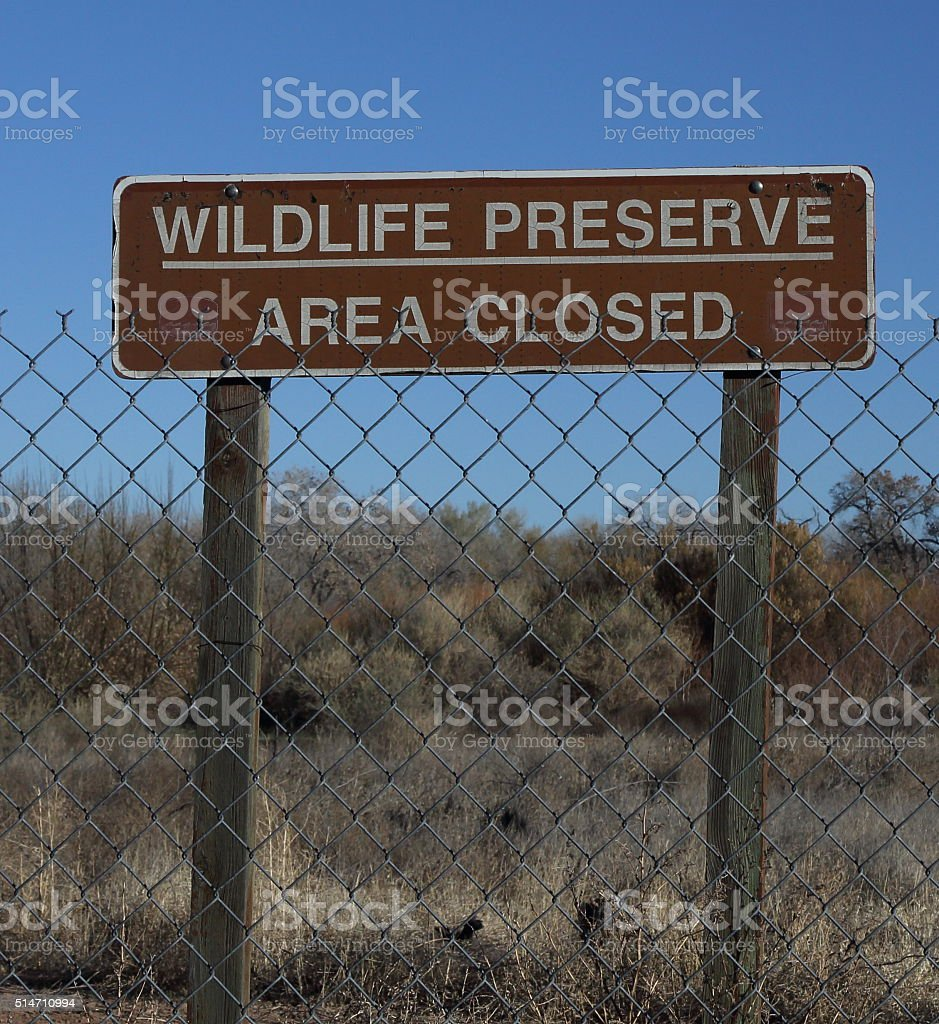 Wildlife Preserve Sign stock photo