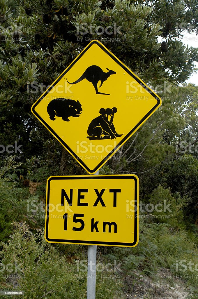 wildlife road sign royalty-free stock photo
