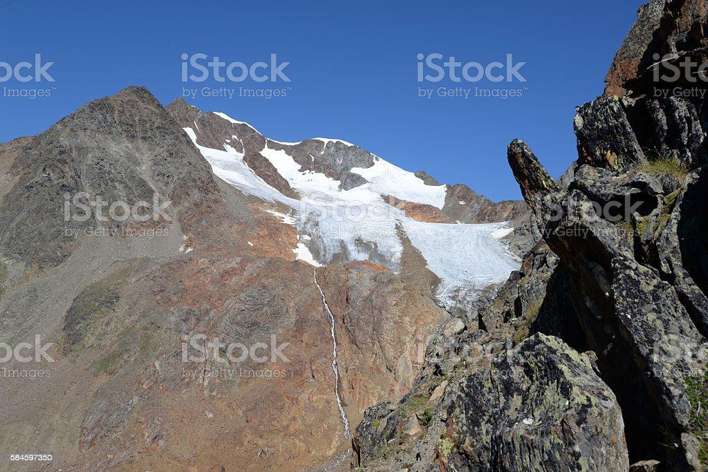Wildspitze, Austria stock photo