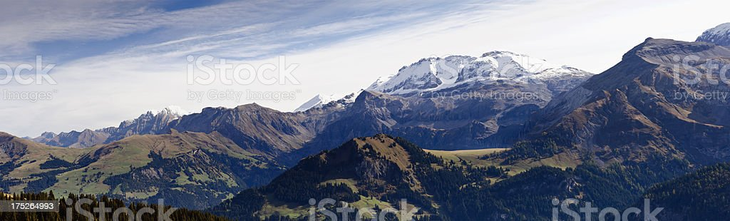 Wildstrubel and Bernese Oberland panorama royalty-free stock photo
