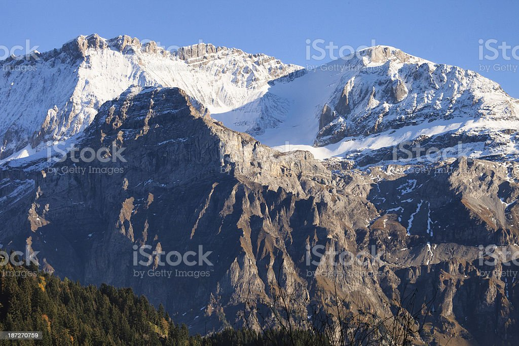 Wildstrubel Mountain above Lenk im Simmental, Bernese Oberland, royalty-free stock photo