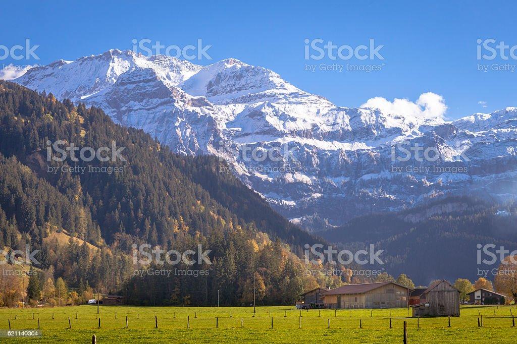 Wildstrubel Mountain, Obersimmental, Swiss Alps stock photo
