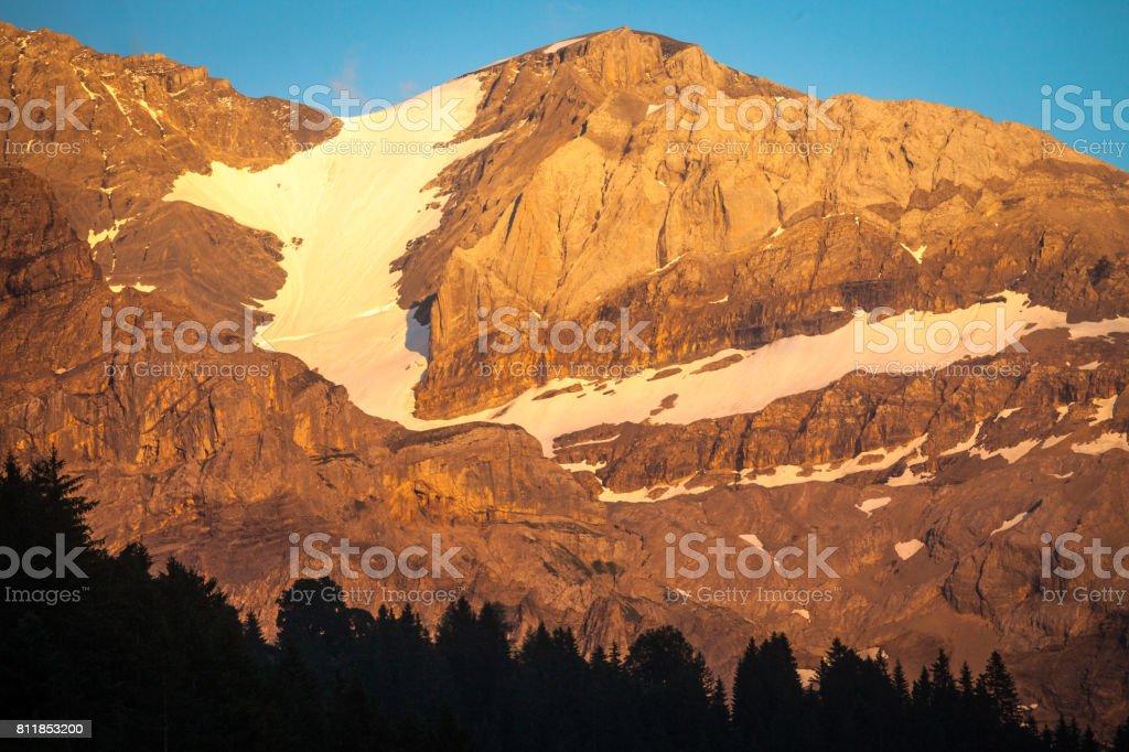 Wildstrubel Mountain stock photo