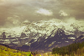 Wildtrubel Panorama, Foehn Storm, Landscape in late Fall.