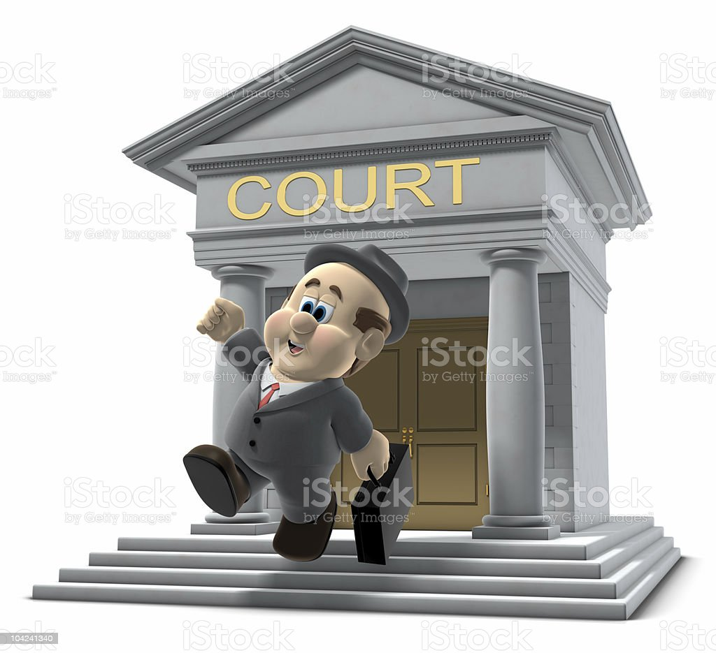 Wilfred leaving the court house royalty-free stock photo