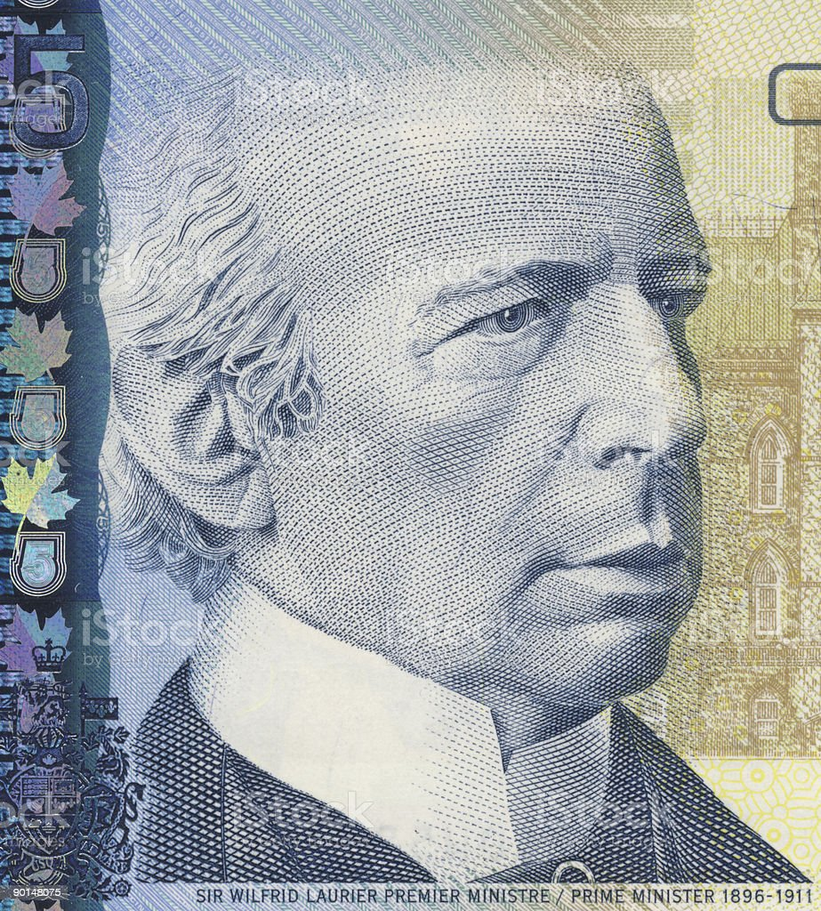 Wilfrid Laurier stock photo