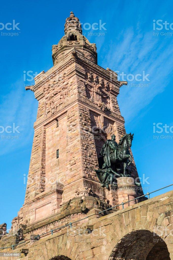 Wilhelm I Monument on Kyffhaeuser Mountain Thuringia, Germany stock photo