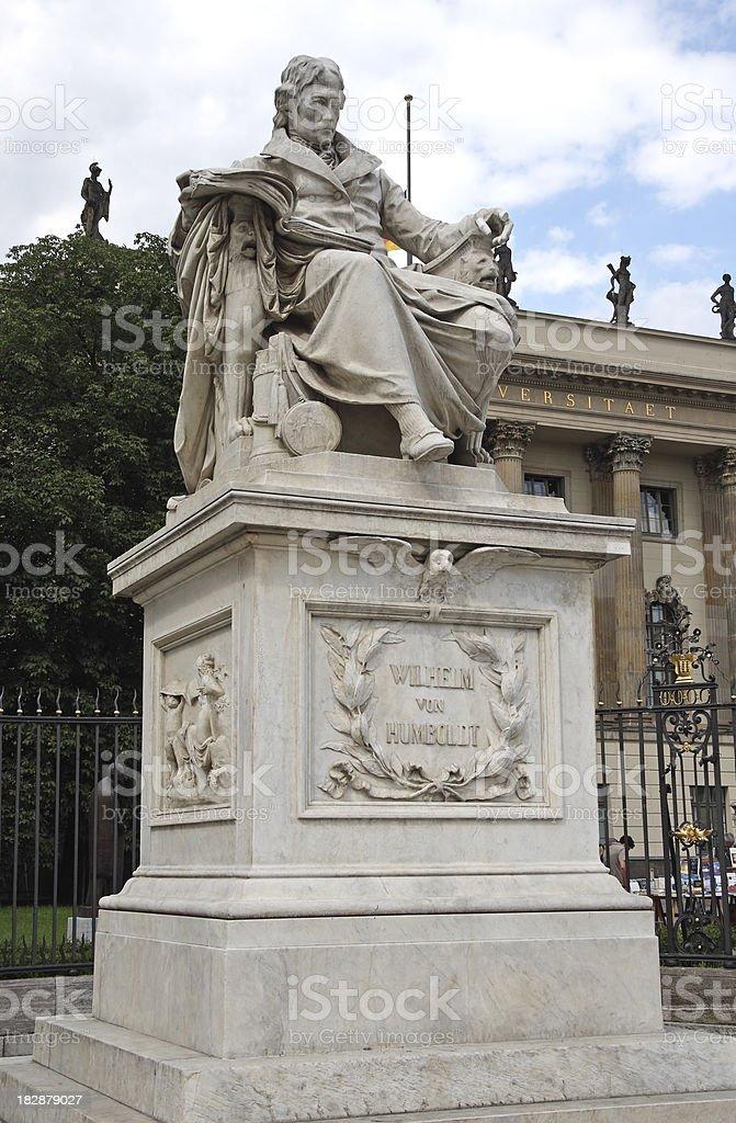 Wilhelm von Humboldt stock photo