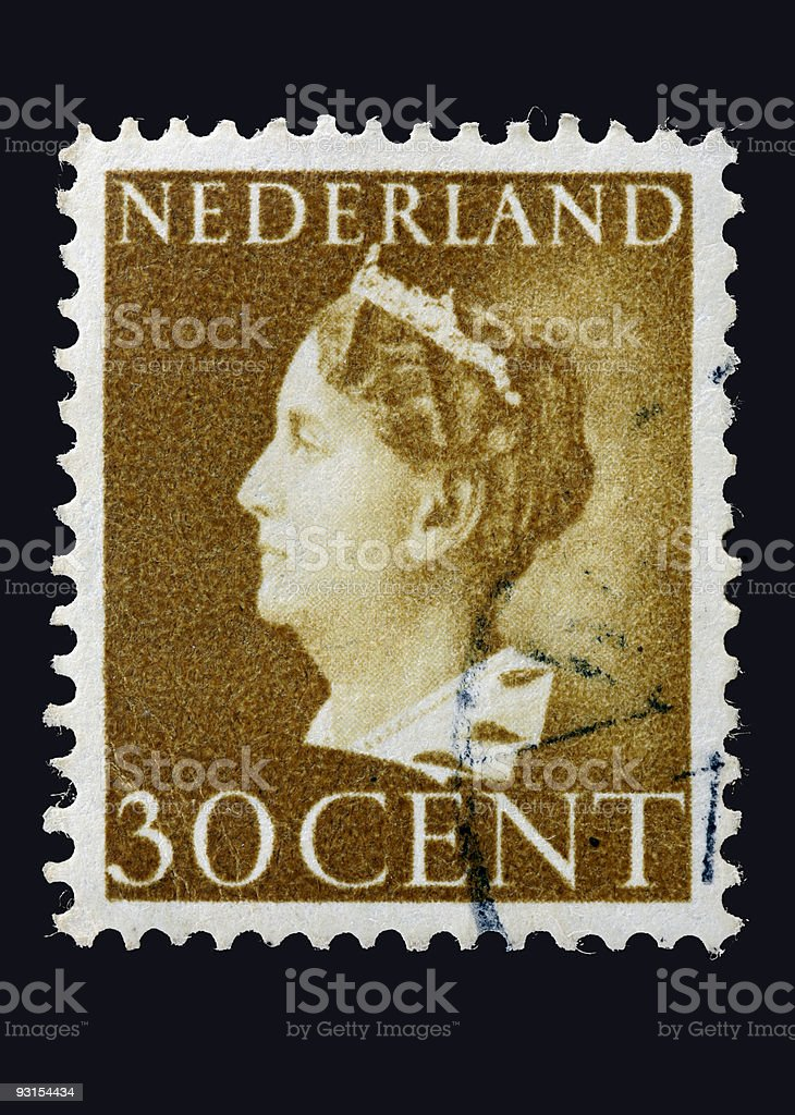 Wilhelmina of the Netherlands  (XL) royalty-free stock photo