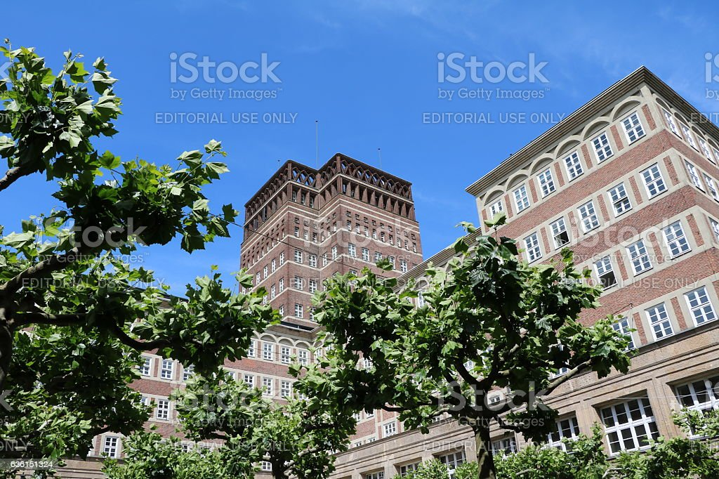 Wilhelm-Marx-Haus Office and business building in Düsseldorf city center, Germany stock photo