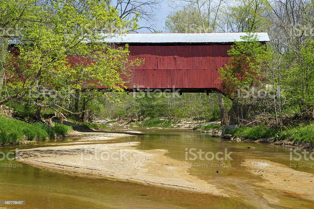 Wilkins Mill Covered Bridge stock photo