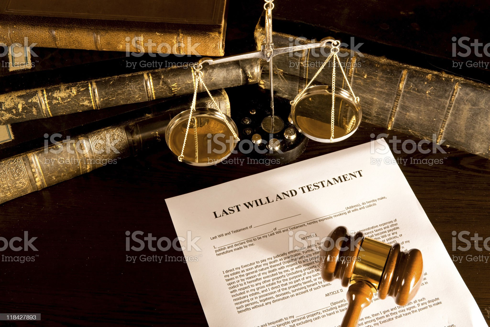 Will And Law Concept royalty-free stock photo