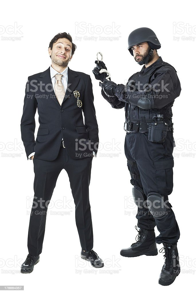 I will arrest you royalty-free stock photo