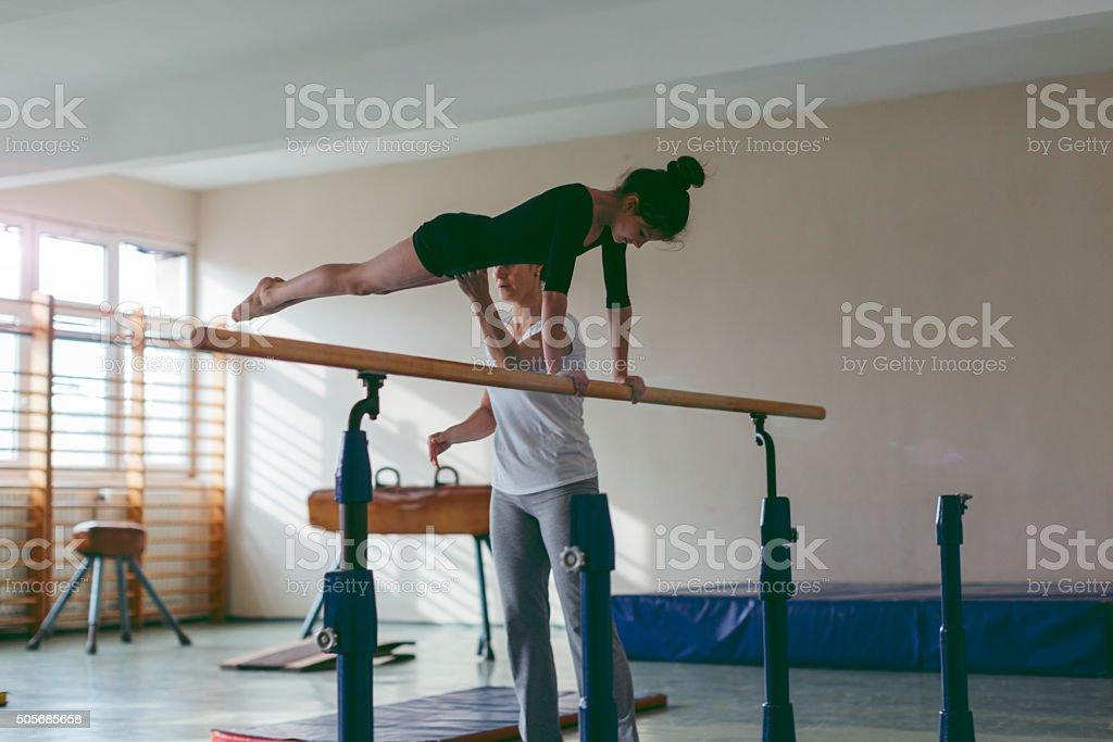 I Will Be Gymnastics Champion. stock photo