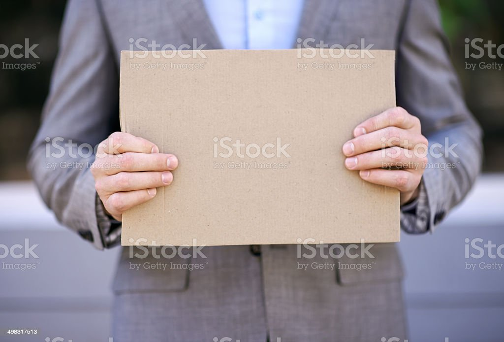 Will give financial advice for food! stock photo