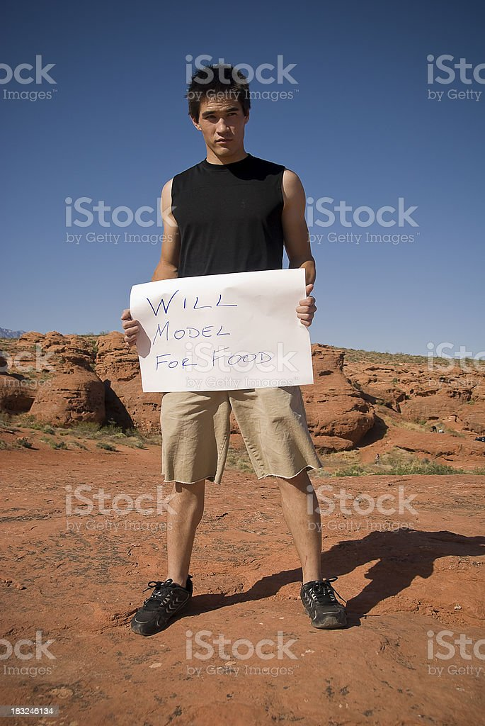 Will Model For Food stock photo