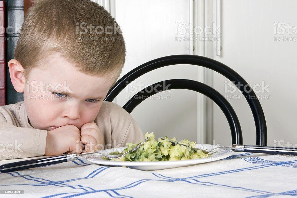 I will not eat stock photo
