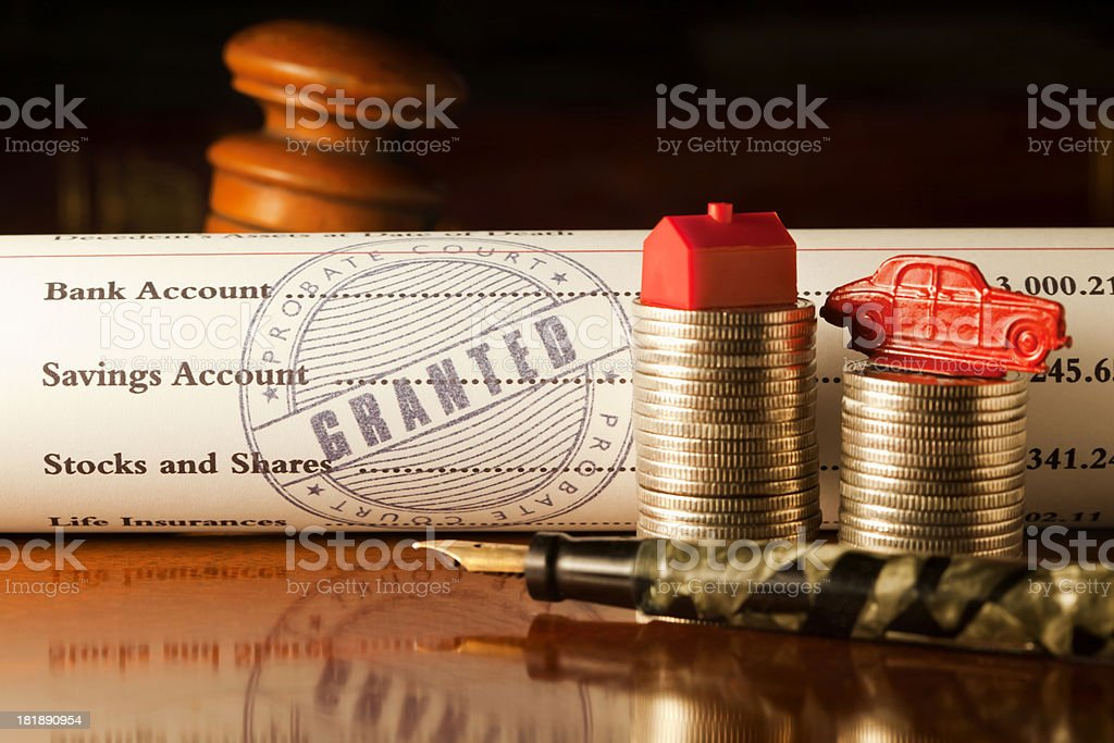 Will Probate Granted stock photo