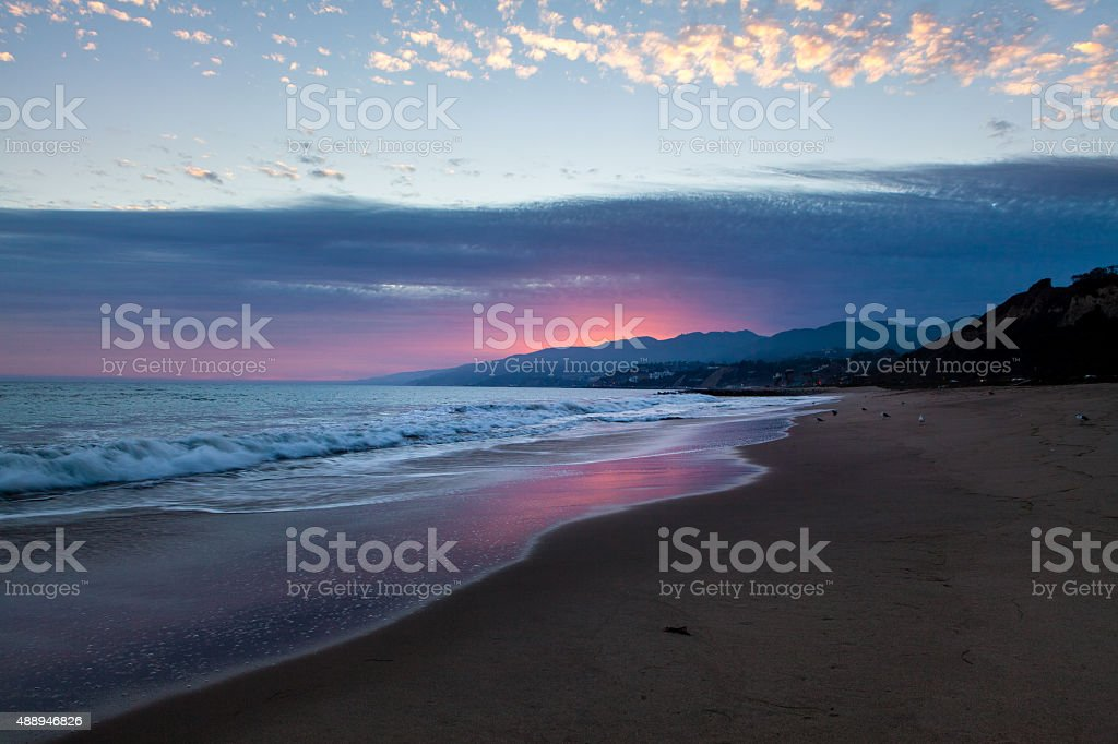 Will Rogers State Beach At Sunset royalty-free stock photo