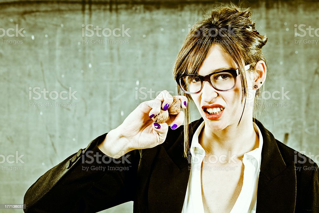 I will Smash your Nuts. Concept stock photo