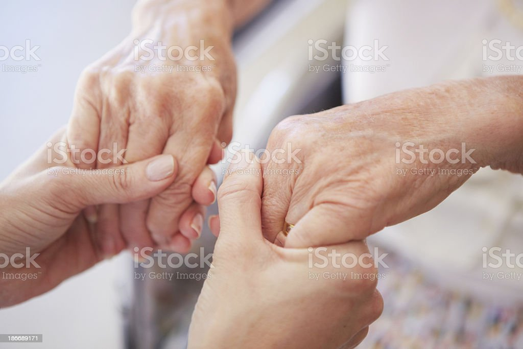 I will take care of you royalty-free stock photo