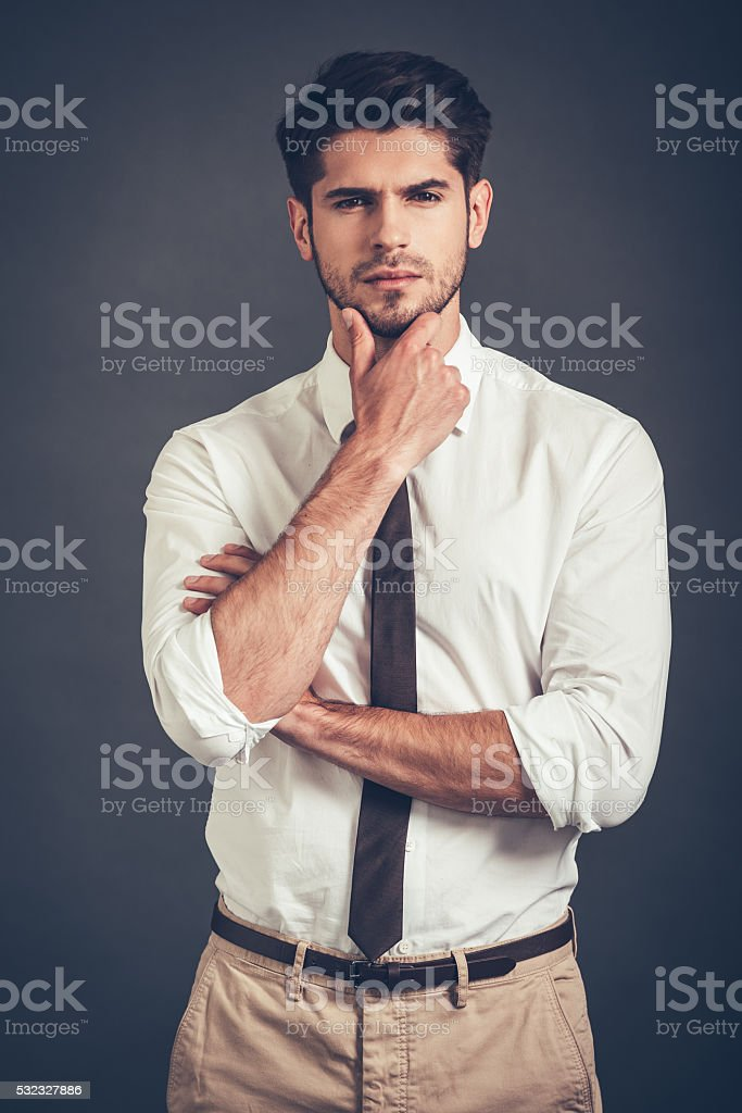 I will think about it. stock photo