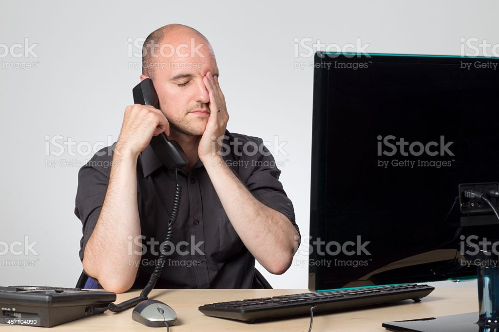 Will this phone call ever end stock photo