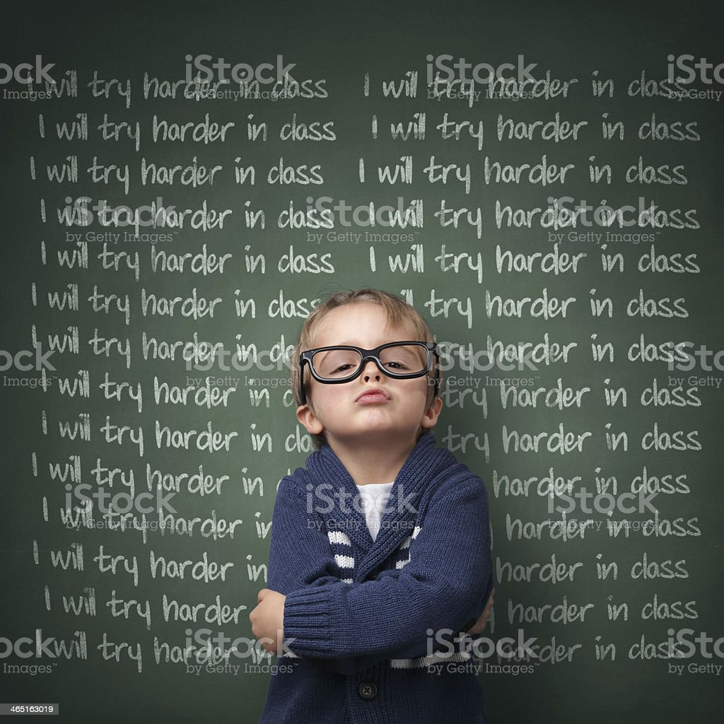 I will try harder in class stock photo
