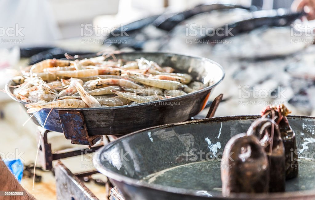 Will two or three kilograms suffice of shrimps? stock photo