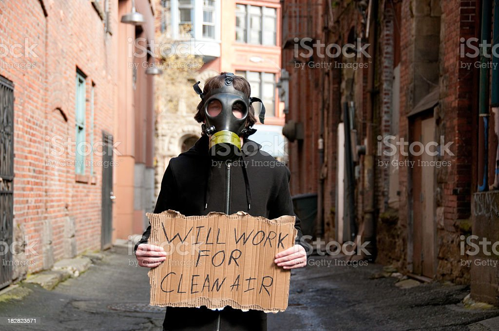 Will Work For Clean Air royalty-free stock photo