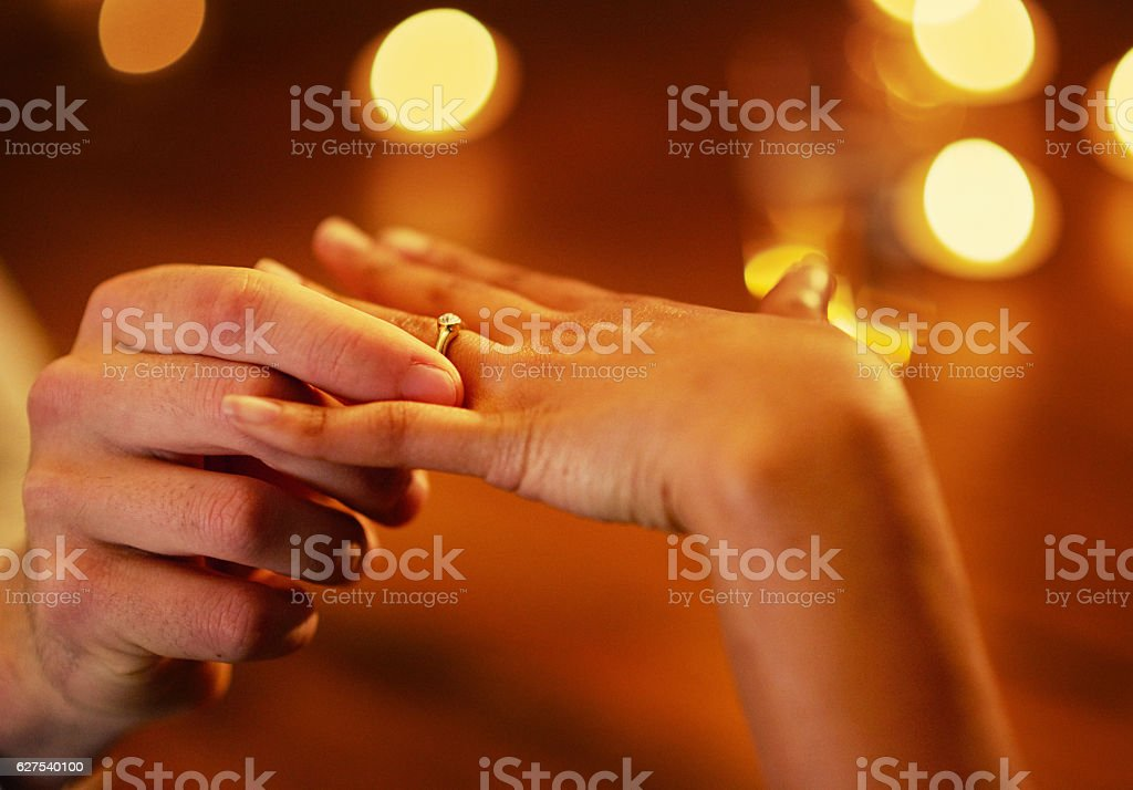 Will you be mine forever? stock photo