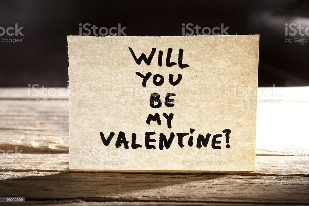 Will You Be My Valentine stock photo