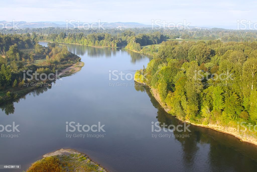 Willamette River From The Air stock photo