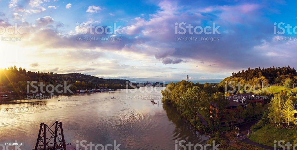 Willamette River, Oregon stock photo