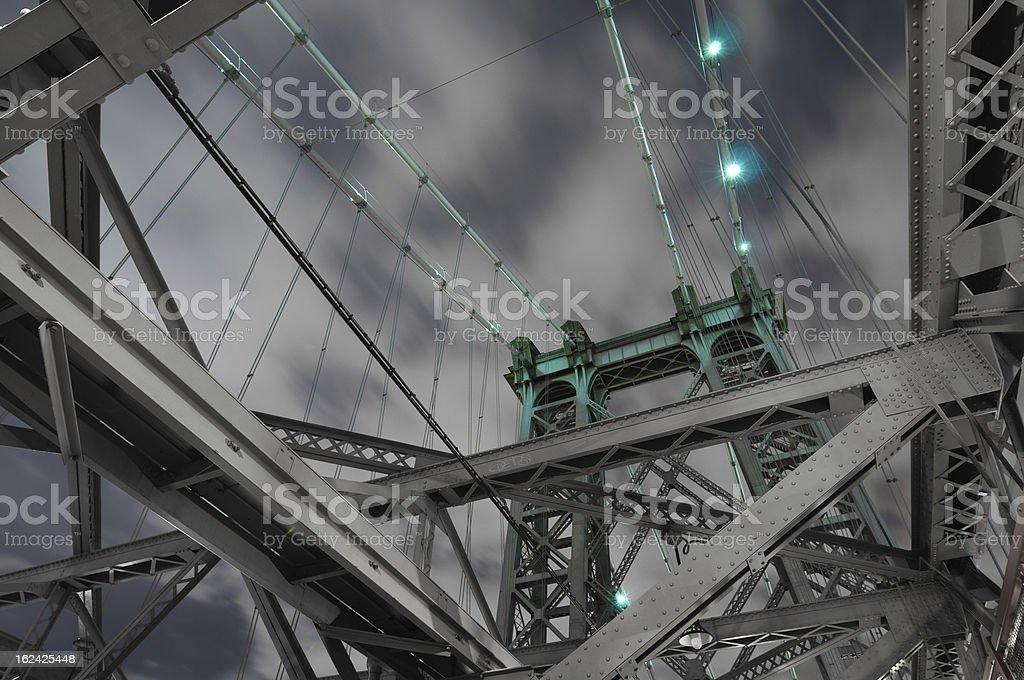Willamsburg Bridge perspective stock photo